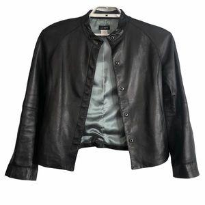 J. Crew Womens Size 6 Black 100% Leather Jacket